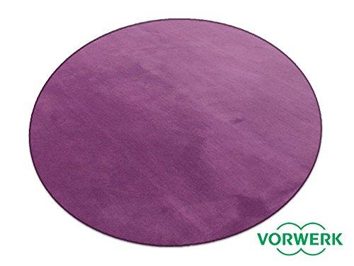 HEVO Vorwerk Bijou lila Teppich   Spielteppich Nicht nur für Kinder 200 cm Ø Rund