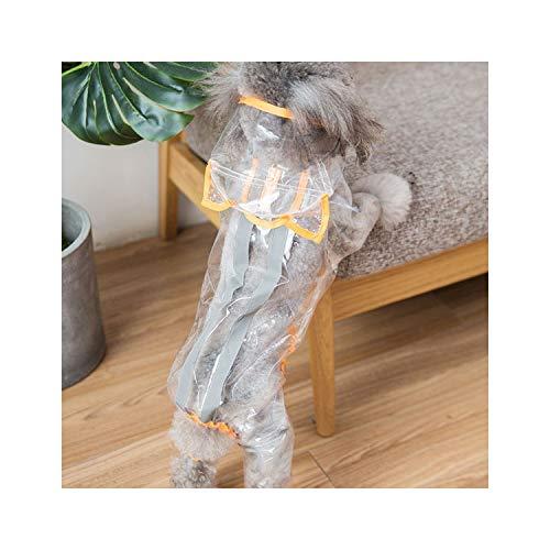 Chaqueta Impermeable Perro Impermeable para Perros con Capucha Transparente Capa de Lluvia Pet Supplies, Transparente Amarillo, XL