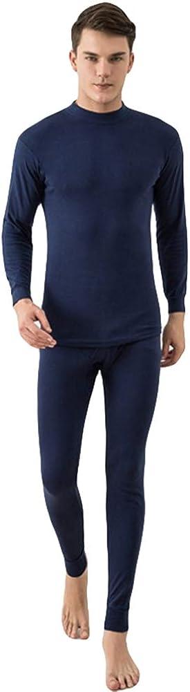 Icegrey Crew Neck Thermal Underwear Long John Set Cotton Warm Under Clothes
