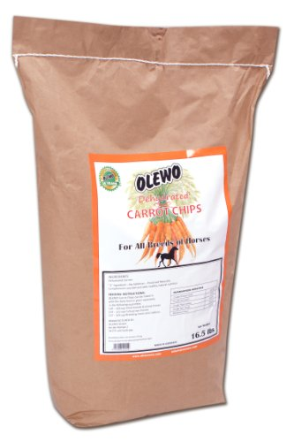 Olewo Dehydrated Carrot Chips Horse Food Supplement, 16-1/2-Pound