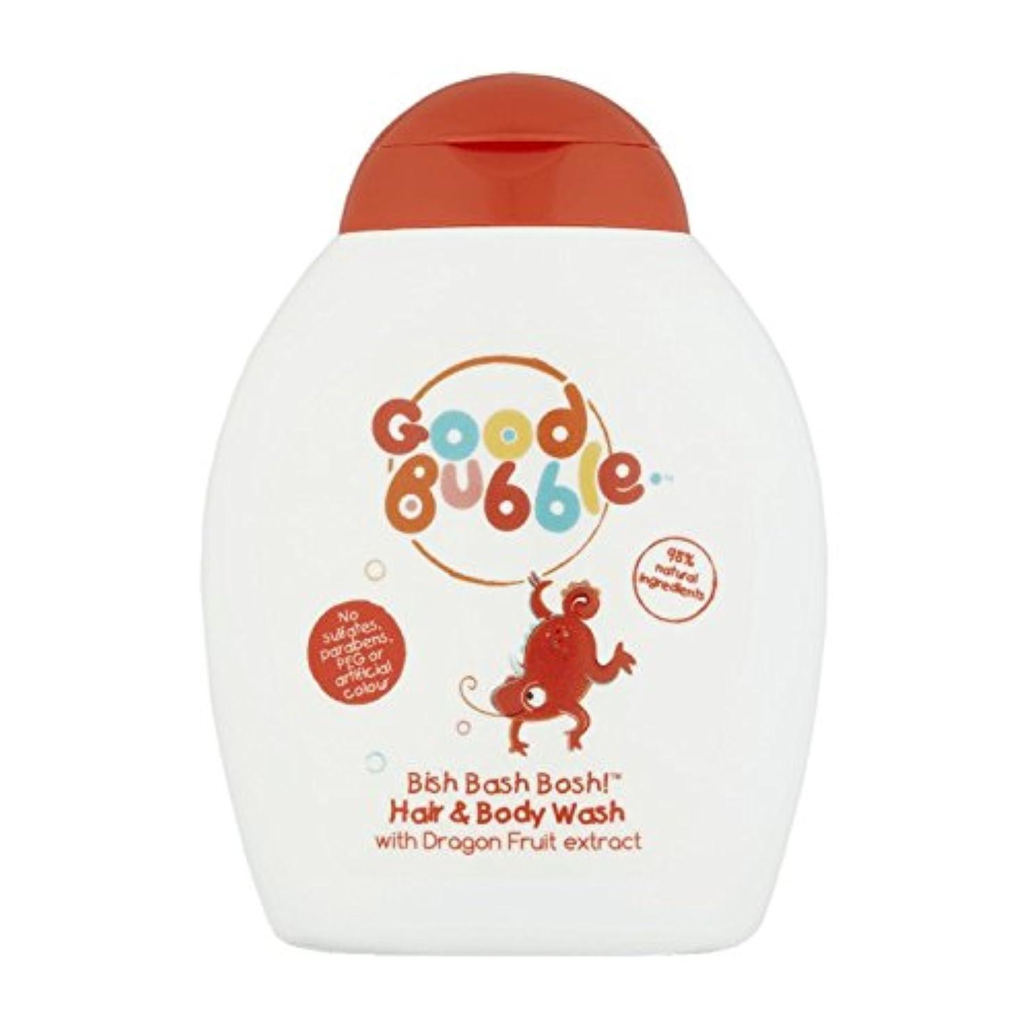 衝撃気になる順応性良いバブルドラゴンフルーツのヘア&ボディウォッシュ250ミリリットル - Good Bubble Dragon Fruit Hair & Body Wash 250ml (Good Bubble) [並行輸入品]