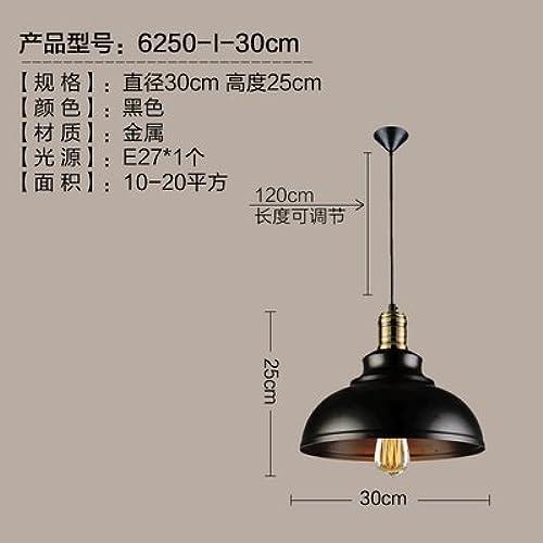 LuckyLibre Pendentif mode moderne de création d'éclairage Lampe Lustre Chambre Salon Cuisine,J noir 30 cm