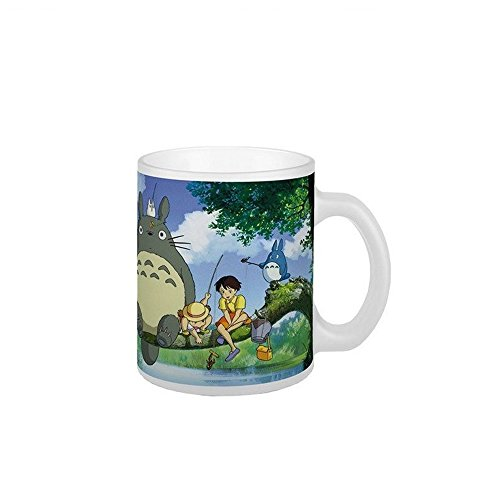 Mein Nachbar Totoro - Studio Ghibli - Taza de cerámica premium - Totoro, Satsuki & Mei - Caja de regalo
