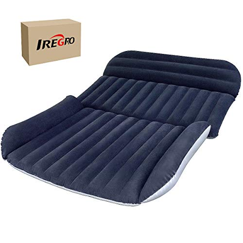 IREGRO SUV Inflatable Mattress Car Air Bed with Air Pump Upgraded Version Air Bed Used for Car Mattress Inflatable Bed Air Bed for Travel, Camping