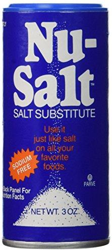 Nu Salt Substitute Salt, 3-Ounce Shaker