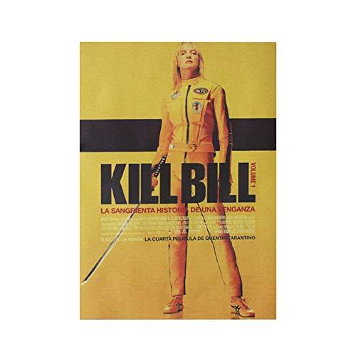 ALTcompluser Retro Motiv Film Poster Promi Wanddekoration Vintage Wandbild Kleinformat Plakat für Wandgestaltung(Kill Bill)