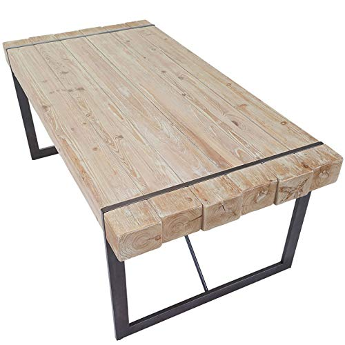 Mendler Esszimmertisch HWC-A15, Esstisch Tisch, Tanne Holz rustikal massiv - naturfarben 80x160x90cm