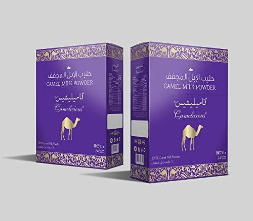 100% qumësht i pastër devesh pluhur i pastër nga Emiratet / Garantuar pa shtesa artificiale / 24 thasë me 20 gramë (480) për ta shijuar atë për të pirë çdo ditë ose për të ofruar