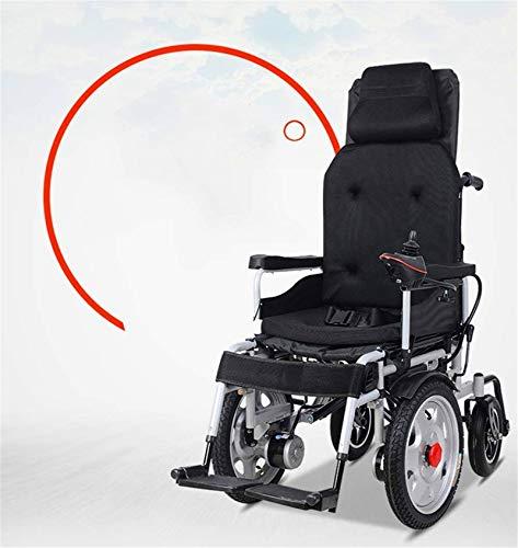 Silla de Ruedas eléctrica Plegable, Silla de ruedas silla de ruedas, silla de rehabilitación médica for la tercera edad, ancianos, discapacitados Energía Eléctrica - plegable Powerchair Pesado