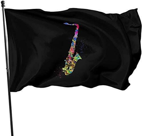 'N/A' LLMMM - Banderilla para saxofón de jardín, para interior y exterior, 3 x 5 cm