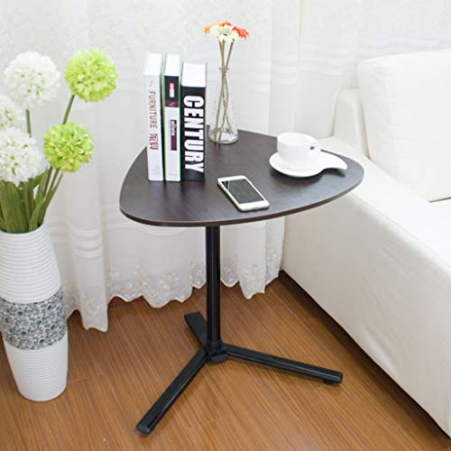 RUIVE End Table with Wheels Sofa Side Table Slide Under Height Adjustable Wooden Laptop Table Couch Table Mobile Dining Table Snack Table