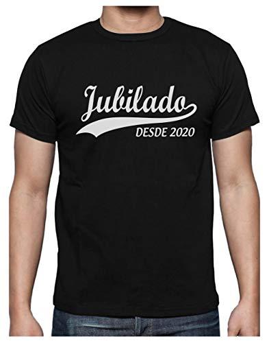 Green Turtle Camiseta para Hombre - Jubilacion Regalo - Jubilado Desde 2020 Large Negro