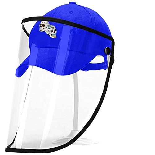 Bgejkos Neuer Schädel La Calavera Catrina Vollgesichts-Baseballkappe mit Abnehmbarer Schutzplatte