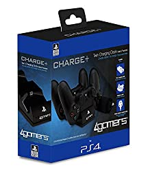 Never stop gaming, with the 4GAMERS TWIN CHARGING DOCK you can carry on gaming without any interruptions. Combined with the AC mains adapter and cleaning cloth, this dock is the perfect partner for your PS4 and your gaming needs. With a slick and sty...