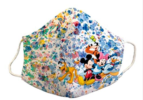 Mascarilla homologada infantil 6-9 años niño niña reutilizable 3capas de protección lavable y divertida estampada mickey