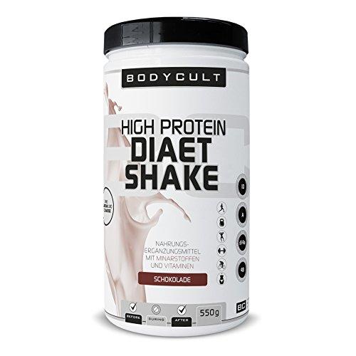 BODYCULT High Protein Diät Shake | 550 g | Mahlzeitersatz für Diätphasen | Speziell für Leistungs- und Ausdauersport entwickelt (Schokolade)