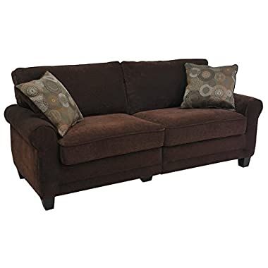 Serta RTA Copenhagen Collection 73  Sofa in Rye Brown