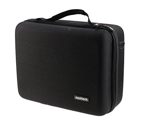 Navitech Noir Portable/Mobile Contrôleur DJ Housse de Transport Compatible avec Hercules Glow DJ Control