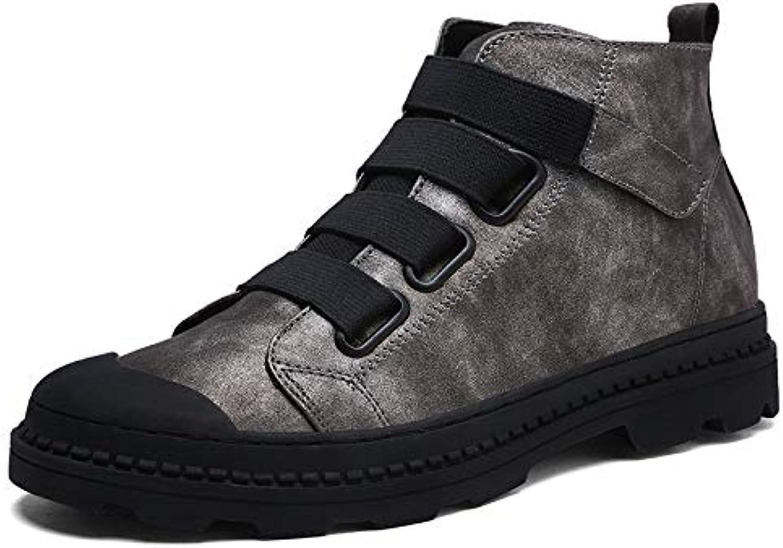 Fuze män Ankle stövlar Andbar Martin stövlar män läder High High High skor utomhus Casual skor  försäljning online