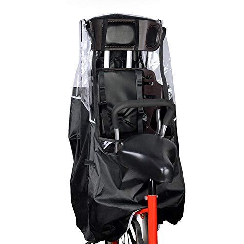 juman634 Kindersitz Kindersitz Poncho Fahrrad Rücksitz Regenschutz PVC Transparent Atmungsaktiv Und Langlebig Fahrrad Regenschutz