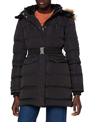 Pepe Jeans MOLI Abrigo, Negro (999), Large para Mujer