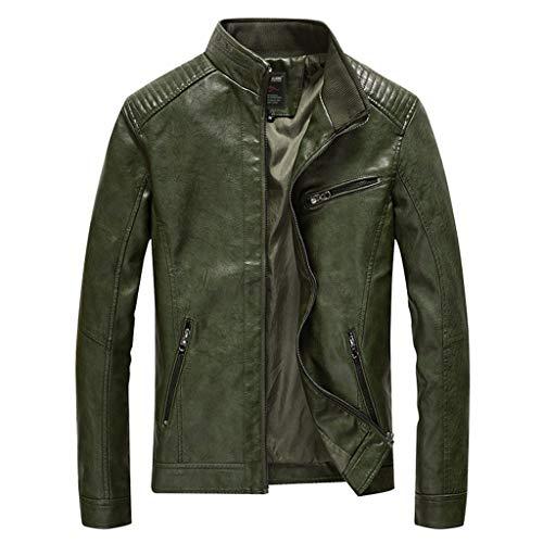 Mens Leather Jacket heren outdoor motorfiets biker modern lederen mantel mannen herfst top motorjas racing biker coat klassieke waterdicht
