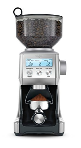 SAGE SCG820 the Smart Grinder Pro Kaffeemühle mit LCD-Anzeige für Press- oder Filterkaffee, Gebürsteter Edelstahl