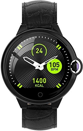 ZHENAO Reloj Inteligente, Espejo de Doble Definición de Alta Definición de 1.22 Pulgadas, Recordatorio de Llamadas Monitoreo Del Sueño Ip67 Pulsera Deportiva Inteligente Impermeable