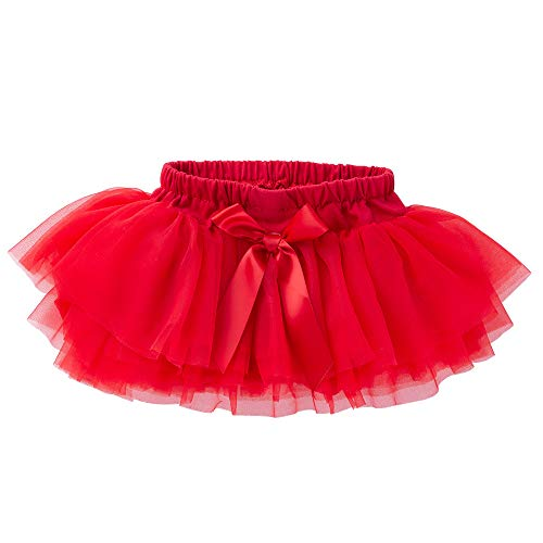 Anbaby Baby Girls Soft Tutu Skirt Toddler Ruffled Pants Diaper Cover