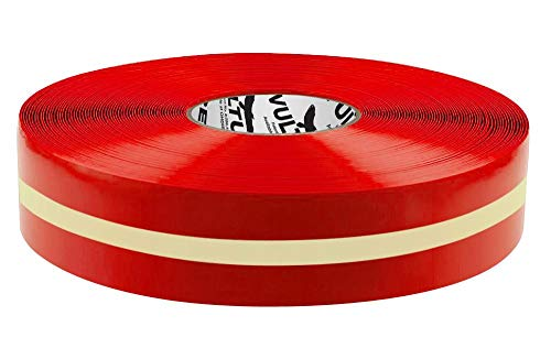 """Vulture Floor Tape Glow in The Dark Marking Tape, Solid with Glowing Center Line, Continuous Roll, 2"""" Roll, 1 EA, 45VR99"""