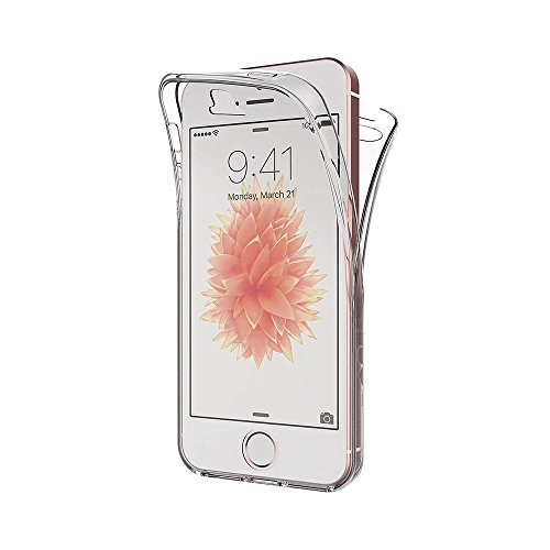 iPhone 5s Front and Back 360 Clear Soft case Cover by Labrador (Trasparent)