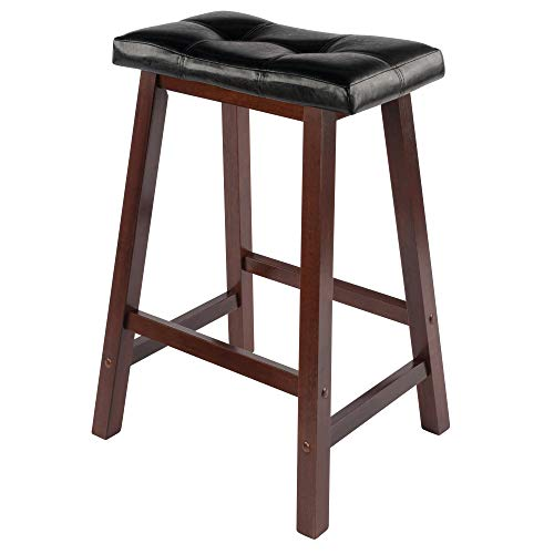 Winsome Mona Stool 24quot Antique Walnut