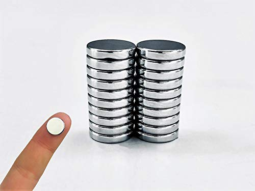 Magnetize-It! Ímãs circulares de neodímio (pacote com 20) D10 x 2 mm (MIM10-1639)