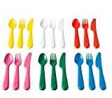 Ikea Kalas 804.213.32 18-Piece BPA-Free Flatware Set, Multicolored,1 Pack