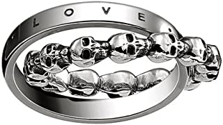 "'Thomas Sabo Unisex Anillo Calavera Love, Faith, Hope Anillo ""Calavera Love, Faith, Hope 925 plata de ley, geschw ärzt tr2103 – 637 – 12"