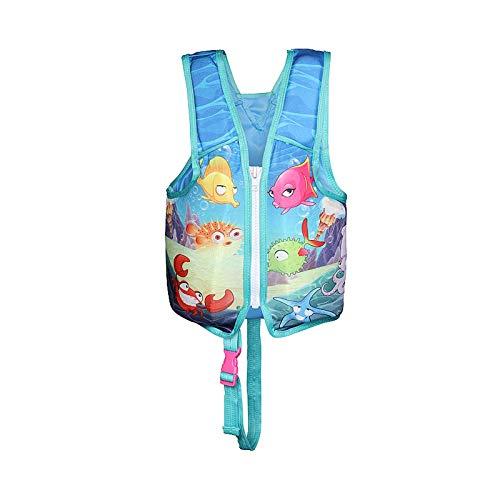 Chaleco salvavidas para niños, chaleco salvavidas con hebilla ajustable, ayuda a la flotabilidad de natación reflectante profesional, surf buceo Rafting Kayak