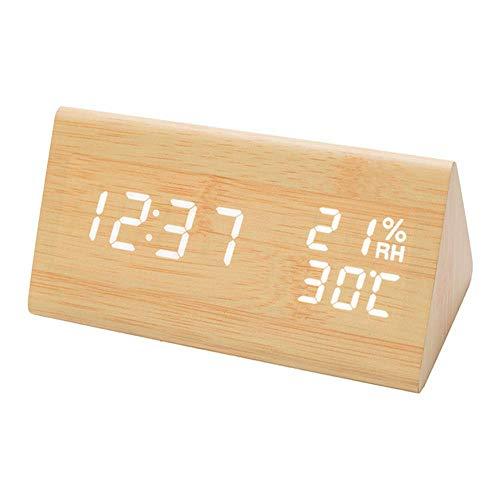 DAXGD - Reloj despertador digital con pantalla LED, pantalla electrónica, 3 ajustes...