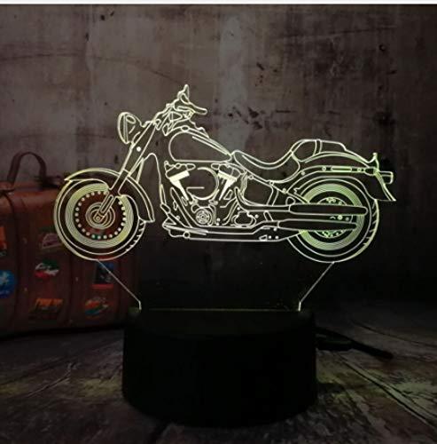 Leselampe Nachttischlampe Tischlampe Schreibtischlampe Tischleuchte Motorrad Roller 3D Led Nachtlichter Rgb 7 Farben Usb Touch Remote Tischlampe Home Party Decor Kinder