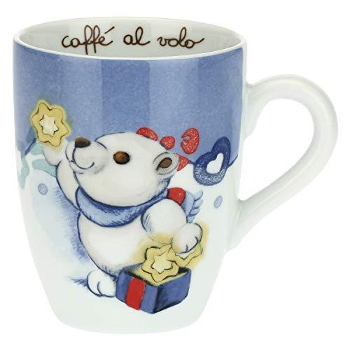THUN - Tazza Colazione con Orso Polare Natalizio - Mug per tè, caffè, Latte - Idea Regalo Natale - Accessori Cucina - Linea Dolce Inverno - Porcellana - 300 ml