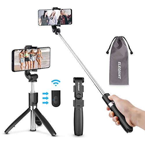 ELEGIANT Palo Selfie Trípode Bluetooth Mini Stick Movil Deportivo...