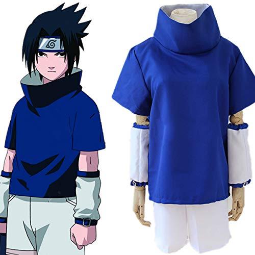 Lackingone Naruto Kostüm von Sasuke Uchiha,Blau (L)