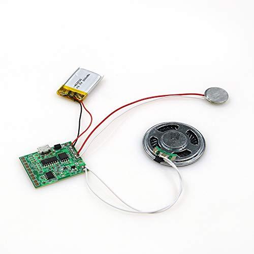 SoundGreets USB Soundmodul inkl. USB Kabel - Sound Datei (Mp3) bis 8 Min. Länge vom PC per USB aufspielen, Aufladbarer Akku, Top Lautsprecher - Für DIY Karten, Geschenke, Spielwaren, selbst gestalten