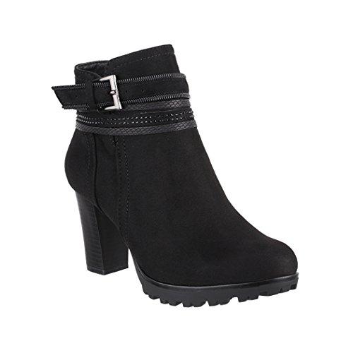 Elara Damen Stiefelette Ankle Boots Chunkyrayan 2018 C292-1-Black-38