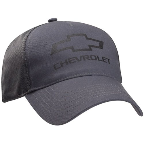 Chevrolet Bowtie Gray Twill Mesh Hat Gray One Size