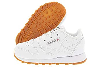Reebok Baby-Boy s Classic Leather Sneaker White/Gum 8 M US Toddler