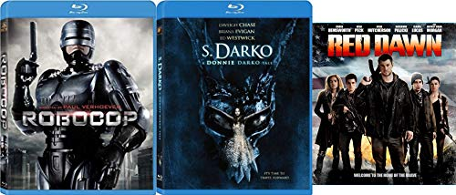Sci-Fi Blu-ray Action Bundle Paul Verhoeven's Robocop (Unrated Director's Cut), Red Dawn (2012) & S. Darko: A Donnie Darko Tale 3-Movie Bundle