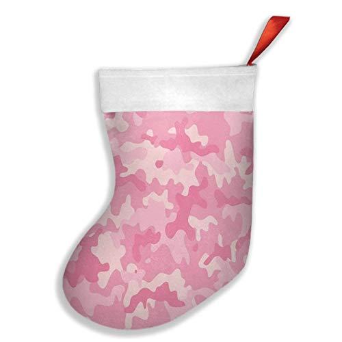 ZVEZVI Calcetín de Navidad, diseño de camuflaje rosa militar con textura de camuflaje rosa de 40,6 cm para colgar en la chimenea, para decoración de Navidad, Navidad, Navidad, fiestas, etc.