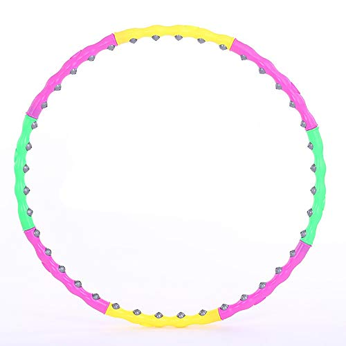 Affordable XUROM Hula Hoop Hula Hoop Foldable Fitness Wave Massage Fitness Circle Lady (Pink Yellow ...