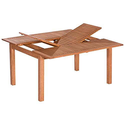 GXK Ausziehtisch Gartentisch Holztisch Gartenmöbel Tisch 150x150cm, Holz