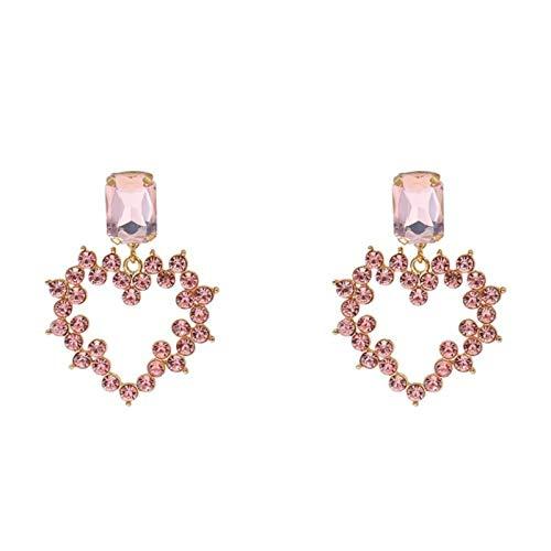 QIN Frauen Augentropfen Kristall Herz Große Marke Design Luxus Anhänger Strass Deklariert Hanging Ohrringe Schmuck Geschenk